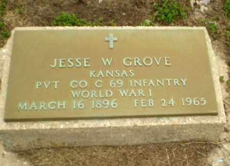 GROVE  (VETERAN WWI), JESSE W. - Clay County, Arkansas | JESSE W. GROVE  (VETERAN WWI) - Arkansas Gravestone Photos