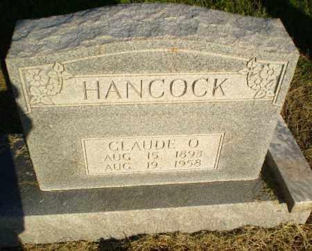 HANCOCK, CLAUDE O - Clay County, Arkansas   CLAUDE O HANCOCK - Arkansas Gravestone Photos