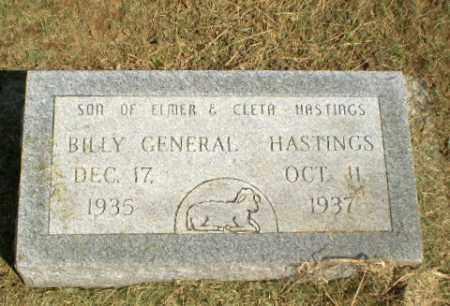 HASTINGS, BILLY GENERAL - Clay County, Arkansas | BILLY GENERAL HASTINGS - Arkansas Gravestone Photos