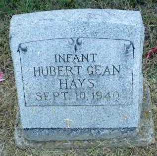 HAYS, HUBERT GEAN  (INFANT) - Clay County, Arkansas | HUBERT GEAN  (INFANT) HAYS - Arkansas Gravestone Photos