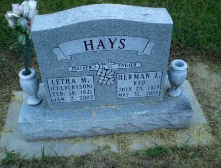 CULBERTSON HAYS, LETHAM M - Clay County, Arkansas | LETHAM M CULBERTSON HAYS - Arkansas Gravestone Photos