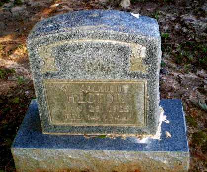 HECTOR, W. ARLEIGH - Clay County, Arkansas | W. ARLEIGH HECTOR - Arkansas Gravestone Photos