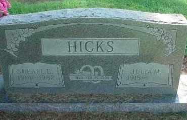 HICKS, SHEARL E. - Clay County, Arkansas   SHEARL E. HICKS - Arkansas Gravestone Photos