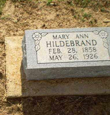 HILDEBRAND, MARY ANN - Clay County, Arkansas | MARY ANN HILDEBRAND - Arkansas Gravestone Photos