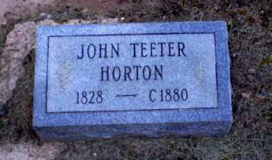 HORTON, JOHN TEETER - Clay County, Arkansas | JOHN TEETER HORTON - Arkansas Gravestone Photos