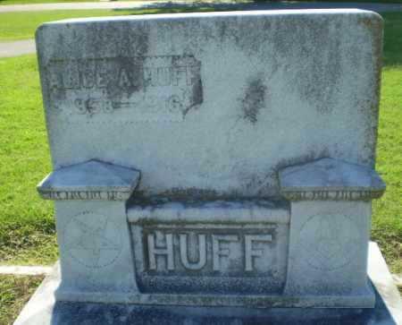HUFF, ALICE A - Clay County, Arkansas   ALICE A HUFF - Arkansas Gravestone Photos