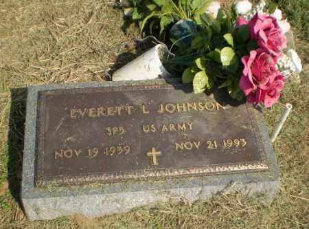 JOHNSON  (VETERAN), EVERETT L - Clay County, Arkansas | EVERETT L JOHNSON  (VETERAN) - Arkansas Gravestone Photos