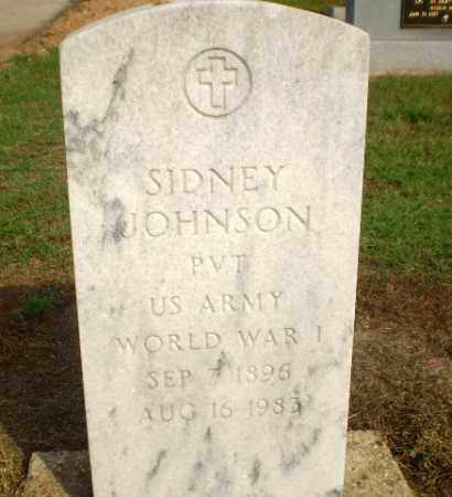 JOHNSON (VETERAN WWI), SIDNEY - Clay County, Arkansas | SIDNEY JOHNSON (VETERAN WWI) - Arkansas Gravestone Photos