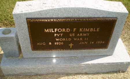 KIMBLE (VETERAN WWII), MILFORD F - Clay County, Arkansas | MILFORD F KIMBLE (VETERAN WWII) - Arkansas Gravestone Photos
