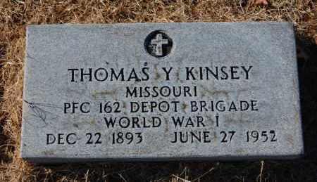 KINSEY (VETERAN WWI), THOMAS Y - Clay County, Arkansas | THOMAS Y KINSEY (VETERAN WWI) - Arkansas Gravestone Photos