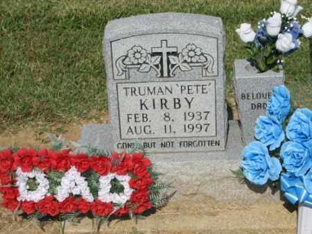 KIRBY, TRUMAN 'PETE' - Clay County, Arkansas   TRUMAN 'PETE' KIRBY - Arkansas Gravestone Photos