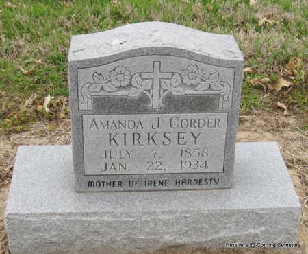 KIRKSEY, AMANDA J - Clay County, Arkansas | AMANDA J KIRKSEY - Arkansas Gravestone Photos