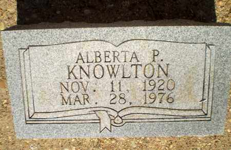 KNOWLTON, ALBERTA P - Clay County, Arkansas | ALBERTA P KNOWLTON - Arkansas Gravestone Photos
