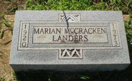MCCRACKEN LANDERS, MARIAN - Clay County, Arkansas | MARIAN MCCRACKEN LANDERS - Arkansas Gravestone Photos