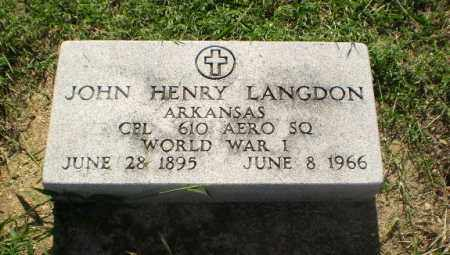 LANGDON  (VETERAN WWI), JOHN HENRY - Clay County, Arkansas | JOHN HENRY LANGDON  (VETERAN WWI) - Arkansas Gravestone Photos