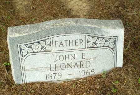 LEONARD, JOHN E - Clay County, Arkansas | JOHN E LEONARD - Arkansas Gravestone Photos