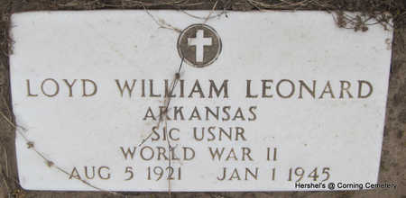 LEONARD (VETERAN WWII KIA), LOYD WILLIAM - Clay County, Arkansas | LOYD WILLIAM LEONARD (VETERAN WWII KIA) - Arkansas Gravestone Photos