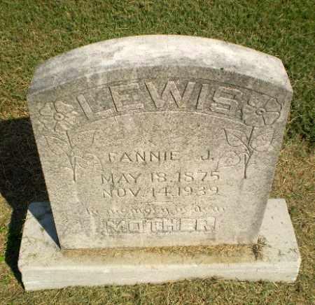 LEWIS, FANNIE J - Clay County, Arkansas   FANNIE J LEWIS - Arkansas Gravestone Photos