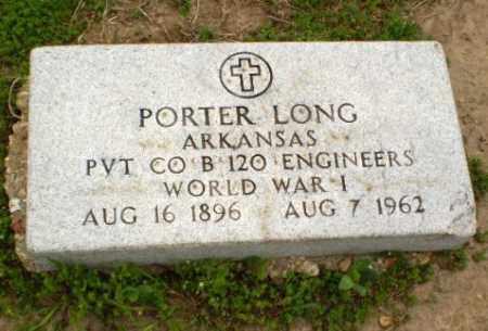 LONG  (VETERAN WWI), PORTER - Clay County, Arkansas   PORTER LONG  (VETERAN WWI) - Arkansas Gravestone Photos