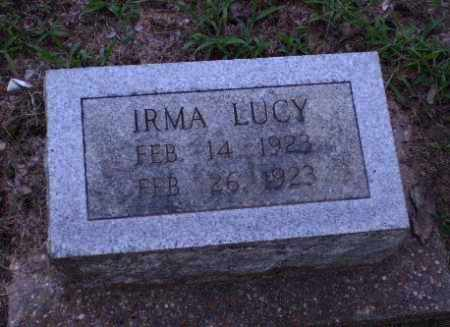 LUCY, IRMA - Clay County, Arkansas   IRMA LUCY - Arkansas Gravestone Photos