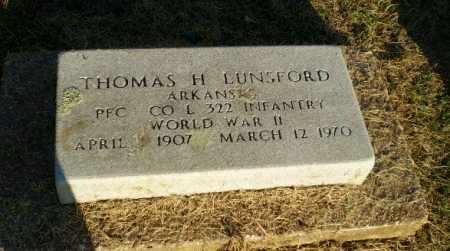 LUNSFORD  (VETERAN WWII), THOMAS H - Clay County, Arkansas   THOMAS H LUNSFORD  (VETERAN WWII) - Arkansas Gravestone Photos