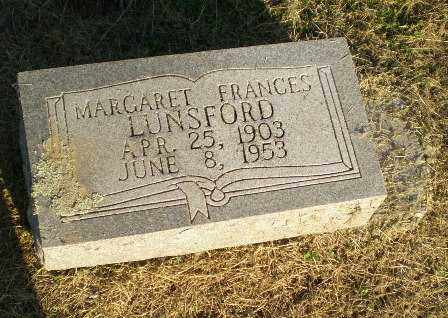 LUNSFORD, MARGARET FRANCES - Clay County, Arkansas | MARGARET FRANCES LUNSFORD - Arkansas Gravestone Photos