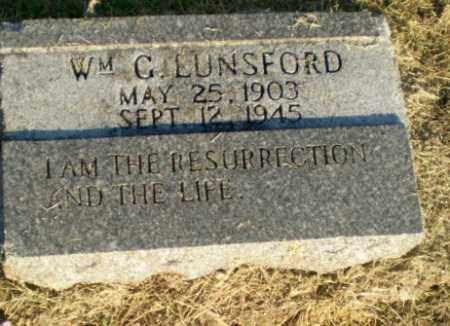 LUNSFORD, WM. G - Clay County, Arkansas | WM. G LUNSFORD - Arkansas Gravestone Photos