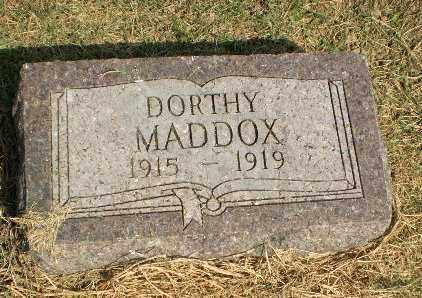 MADDOX, DORTHY - Clay County, Arkansas | DORTHY MADDOX - Arkansas Gravestone Photos