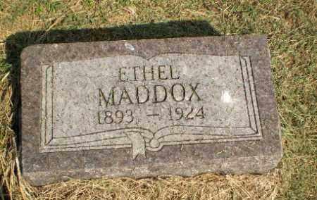MADDOX, ETHEL - Clay County, Arkansas | ETHEL MADDOX - Arkansas Gravestone Photos