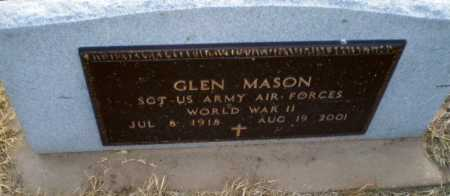 MASON  (VETERAN WWII), GLEN - Clay County, Arkansas | GLEN MASON  (VETERAN WWII) - Arkansas Gravestone Photos
