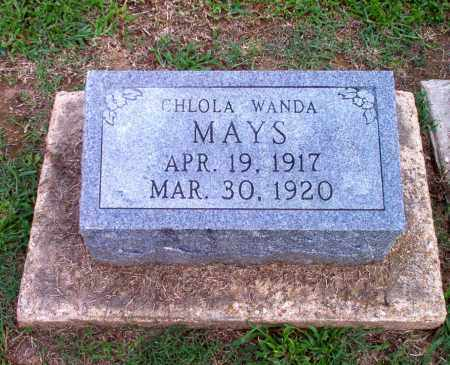 MAYS, CHLOLA WANDA - Clay County, Arkansas | CHLOLA WANDA MAYS - Arkansas Gravestone Photos