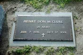 MCCLURE (VETERAN), HENRY DON - Clay County, Arkansas   HENRY DON MCCLURE (VETERAN) - Arkansas Gravestone Photos