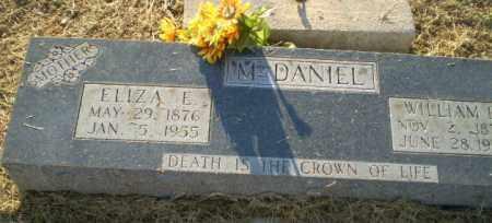 MCDANIEL, ELIZA E - Clay County, Arkansas   ELIZA E MCDANIEL - Arkansas Gravestone Photos