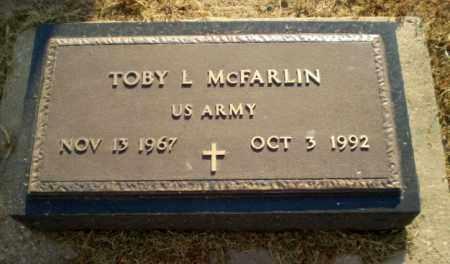 MCFARLIN  (VETERAN), TOBY L - Clay County, Arkansas | TOBY L MCFARLIN  (VETERAN) - Arkansas Gravestone Photos