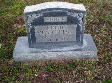 MENDENHALL, MINNIE - Clay County, Arkansas   MINNIE MENDENHALL - Arkansas Gravestone Photos