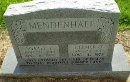 MENDENHALL, DELMER D - Clay County, Arkansas | DELMER D MENDENHALL - Arkansas Gravestone Photos