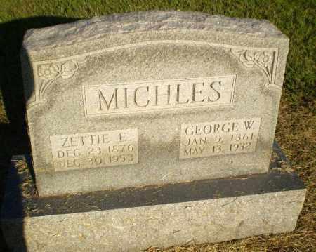 MICHLES, ZETTIE E - Clay County, Arkansas | ZETTIE E MICHLES - Arkansas Gravestone Photos