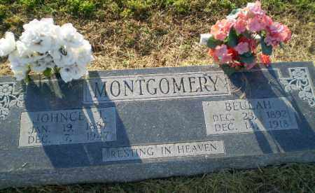 MONTGOMERY, JOHNCE T - Clay County, Arkansas | JOHNCE T MONTGOMERY - Arkansas Gravestone Photos
