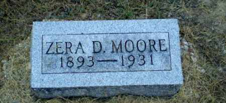 MOORE, ZERA D - Clay County, Arkansas | ZERA D MOORE - Arkansas Gravestone Photos