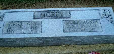 MOREY, VIOLA AGNES - Clay County, Arkansas | VIOLA AGNES MOREY - Arkansas Gravestone Photos