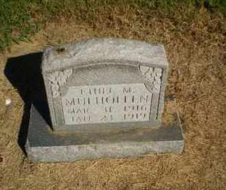 MULHOLLEN, ETHEL M - Clay County, Arkansas | ETHEL M MULHOLLEN - Arkansas Gravestone Photos