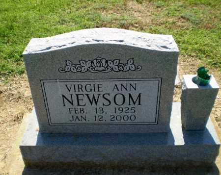 NEWSOM, VIRGIE ANN - Clay County, Arkansas | VIRGIE ANN NEWSOM - Arkansas Gravestone Photos