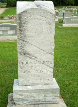 PATE, PRUDY ANN - Clay County, Arkansas   PRUDY ANN PATE - Arkansas Gravestone Photos