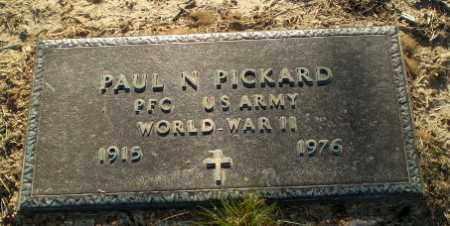 PICKARD  (VETERAN WWII), PAUL N. - Clay County, Arkansas | PAUL N. PICKARD  (VETERAN WWII) - Arkansas Gravestone Photos