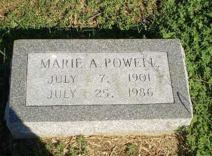 POWELL, MARIE A - Clay County, Arkansas   MARIE A POWELL - Arkansas Gravestone Photos