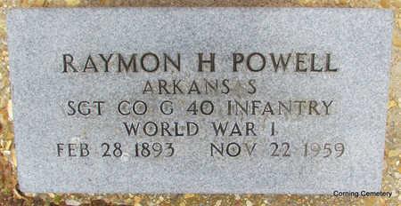 POWELL (VETERAN WWI), RAYMON H - Clay County, Arkansas | RAYMON H POWELL (VETERAN WWI) - Arkansas Gravestone Photos