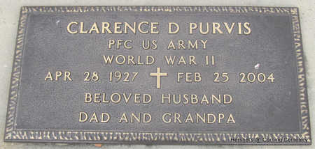 PURVIS  (VETERAN WWII), CLARENCE DONALD - Clay County, Arkansas | CLARENCE DONALD PURVIS  (VETERAN WWII) - Arkansas Gravestone Photos