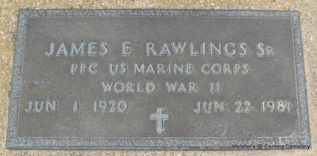 RAWLINGS, SR  (VETERAN WWII), JAMES E - Clay County, Arkansas | JAMES E RAWLINGS, SR  (VETERAN WWII) - Arkansas Gravestone Photos