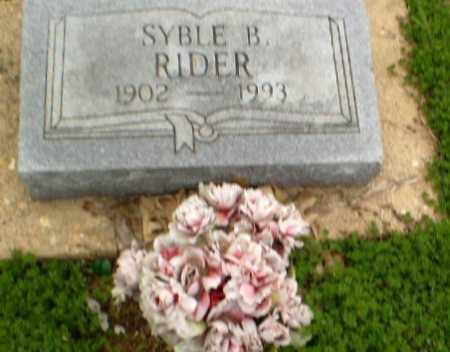 RIDER, SYBLE - Clay County, Arkansas | SYBLE RIDER - Arkansas Gravestone Photos