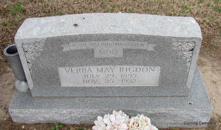 RIGDON, VERBA MAY - Clay County, Arkansas   VERBA MAY RIGDON - Arkansas Gravestone Photos